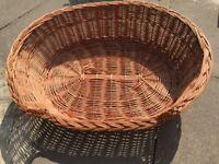 Wicker dog basket