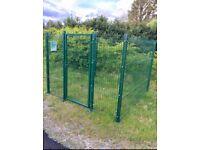 Dog run mesh fencing panels
