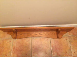 Solid oak shelf/mantel