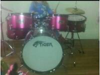 Pink tiger drum kit