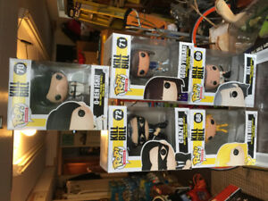 5 Funko Pops Rare Kill Bill New in Box 68-72