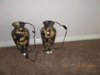 pair of light-up vases