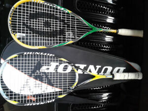 Squash Racquets, 1 Dunlop Ultimate and 1 harrow Extreme