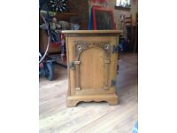 Small wooden bedside table
