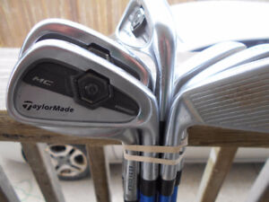 """extra long Forged TaylorMade irons  RH  +1 1/2"""""""