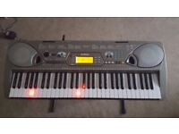 Yamaha Electric Keyboard Portatone EZ-250i, Stand, Power Adapter, Disk Driver