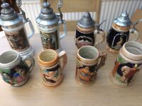 Bargain Job Lot 22 Mix Tankard Stein Mug Cup Some Collectible Collectable Pewter Glass Wade Masons