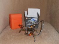 lightweight folding camp gas stove for walking, hiking, camping