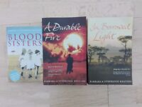 LANGANI TRILOGY - BLOOD SISTERS, A DURABLE FIRE & IN BORROWED LIGHT BY BARBARA & STEPHANIE KEATING.