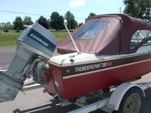 GREAT RUNNING  RUNABOUT READY TO USE   !!14FT THUNDERCRAFT 70 HP