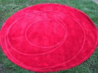 Large red IKEA rug
