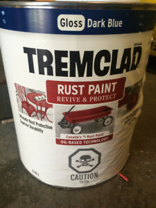 Gallon of new outdoor paint