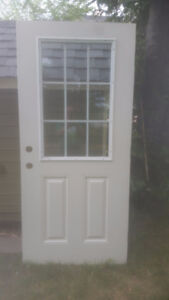 "Brand New Exterior Door with window 36"" wide"
