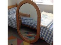 Oval mirror - Pine frame