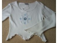 Women's White Long Sleeve Top from New Look Size 16 BNWT