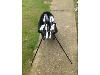 Set of Wilson oversize golf clubs with bag.