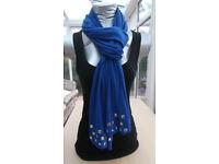 Ladies Scarf Color Royal Blue.