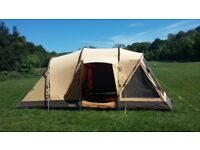 Outwell Maui Reef 5 person tent & carpet, double camp bed, cupboard for sale.