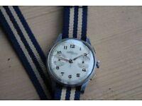 1940's Nicolet chronograph wrist watch Landeron 39 vintage £500