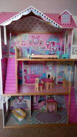 ELC large Barbie style dolls house