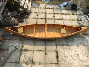 Cedar strip canoe.