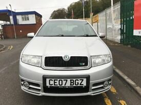 2007 (07 reg) Skoda Fabia 1.9 TDI PD vRS Special Edition 5dr Turbo Diesel 6 Speed Manual