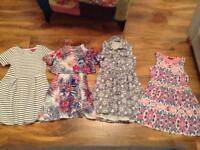 4 X girls dresses, size 7-8