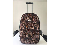 Small Leopard Print Suitcase on Wheels