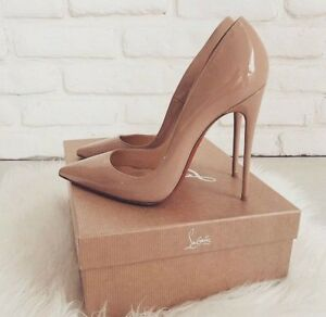 Louboutin So Kate patent nude size 36