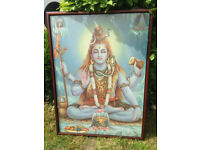 Large Framed Picture of Lord Shiva