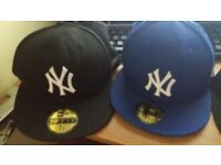 New Era MLB NY Yankees 59Fifty Cap, Blue, Black. Also DC Hat, all great condition.