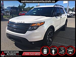 Ford Explorer SPORT ECOBOOST 2013 BLANC GPS CUIR TOIT 7 PLACES