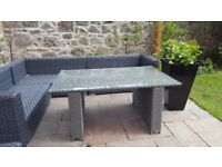 Garden rattan dining table