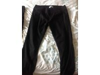2 pairs Black maternity trousers and 1 skirt- size 16
