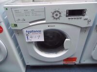 EX-DISPLAY INTEGRATED HOTPOINT 7/5 KG 1400 SPIN WASHER DRYER REF: 31190