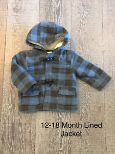 12-18 Month Lined Jacket