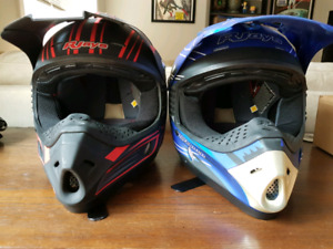 Youth large RJays motocross helmets. Never worn.