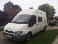 2003 LWB High Roof Ford Transit 8 seats 106000 miles ex welfare van