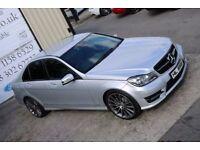 LATE 2013 MERCEDES C250 CDI BLUEEFF AMG SPORT AUTO 202 BHP *NIGHT EDITION SPEC*(FINANCE & WARRANTY)