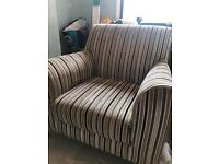 Stripped arm chair free to collector