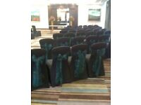Wedding and event chair cover hire and centerpiece hire package for 100