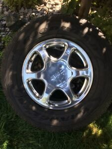 4WHEELS Denali 6Bolt And GoodYear Wrangler Tires 265/70/17