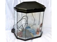 Fish Tank Aquarium 25 Litres with Light