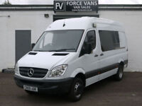 MERCEDES SPRINTER 515 2.2CDi MWB HIGH MINIBUS CREW CAMPER MOTORHOME BAND DAY VAN