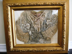 1800s MOURNING CHILD'S JACKET funeral VICTORIAN SHADOW BOX
