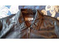 Pierre Cardin mens black leather jacket size L