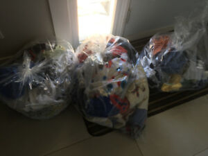 2 and 1/2 bags of boy baby clothes 0-6 months