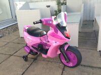 Little Princess Pink 6v Battery Powered Scooter Bike for Outdoor/Indoor