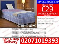 Brand New Single Divan Bed Available with Mattress Genoa