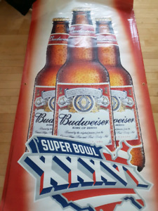 BUDWEISER huge vinyl wall hangings